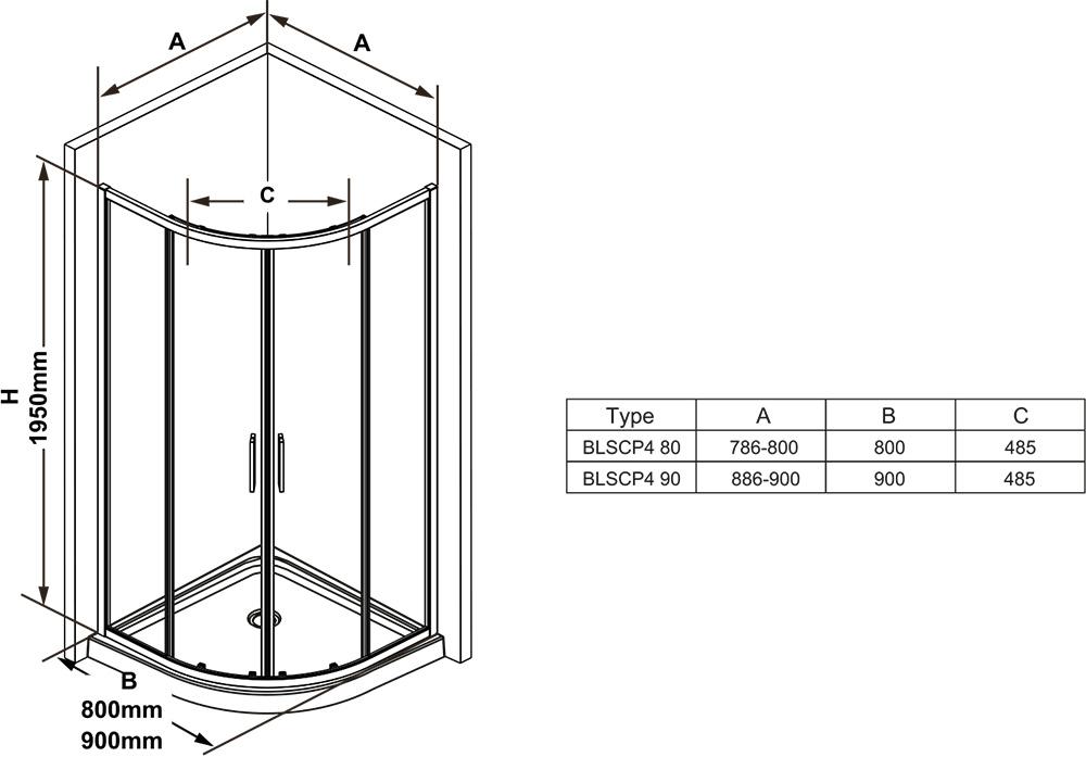 Cabina de duș Blix Slim BLSCP4