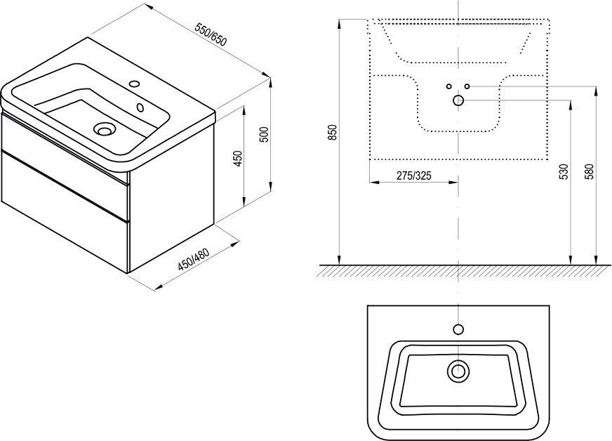Mobilier 10° pentru chiuvetă