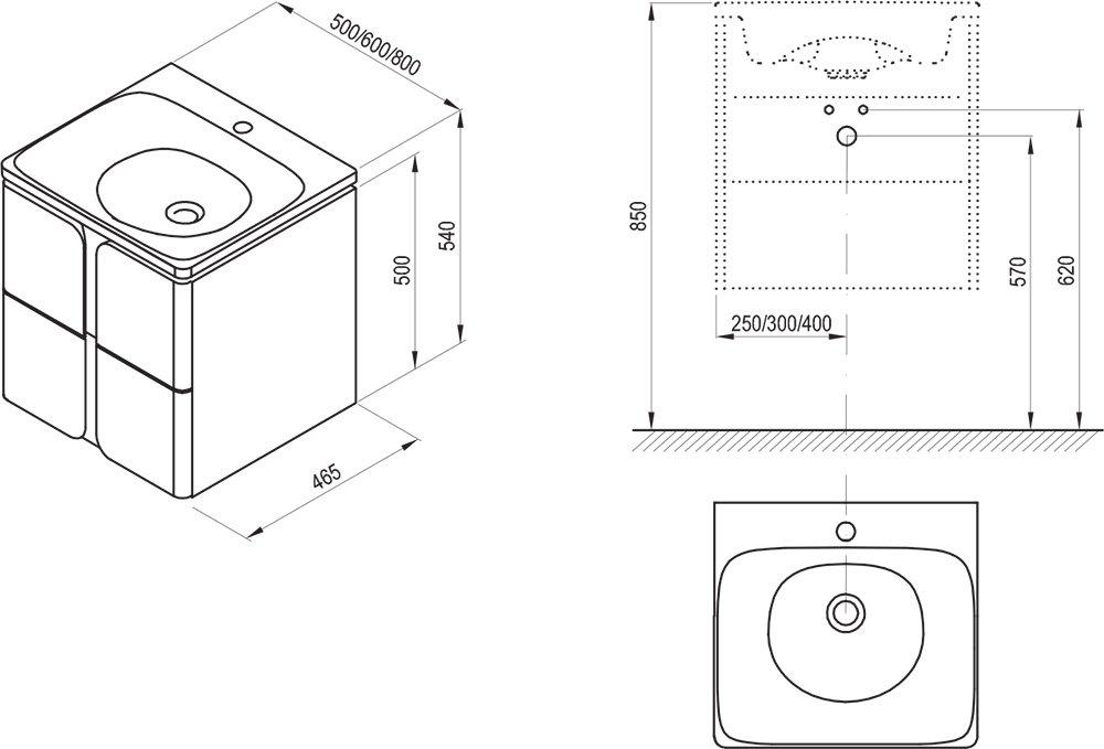 Mobilier pentru chiuvete SD Balance 500